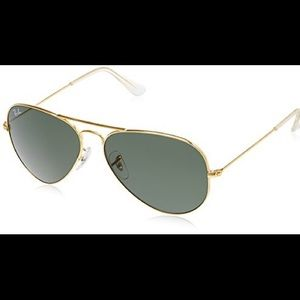 MAKE ME AN OFFER! Ray Ban Gold Aviators With Case!